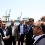 بازدید دستیار ویژه وزیر راه از شبکه ریلی بندر شهید رجایی