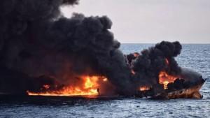 وزارت حمل و نقل چین:شناسایی محل دقیق لاشه نفتکش سانچی/رباتهای زیردریایی به محل حادثه اعزام میشوند