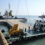 ۳ فروند اسکله شناور چند منظوره در بندر شهید رجایی ساخته شد
