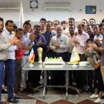 ضیافت افطار مدیر عامل شرکت آلومینیوم المهدی همراه با بازیکنان تیم فوتبال کارگری