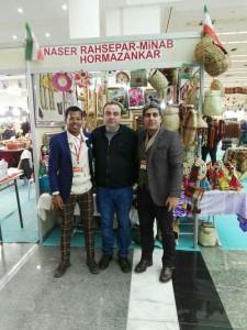 حضور هنرمند مینابی در نمایشگاههای ترکیه